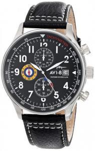 Đồng hồ nam AVI-8 Men's AV-4011 Hawker Hurricane Analog Display Japanese Quartz Watch with Leather Band