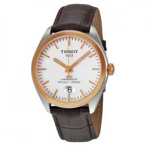 Đồng hồ Tissot PR100 Silver Dial Brown Leather Men's Watch T101.451.26.031.00