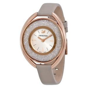 Đồng hồ Swarovski Oval Rose Gold-Tone Crystal Silver Dial Ladies Watch 5158544
