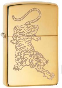 Zippo 29884 Lighter Tattoo Tiger Design